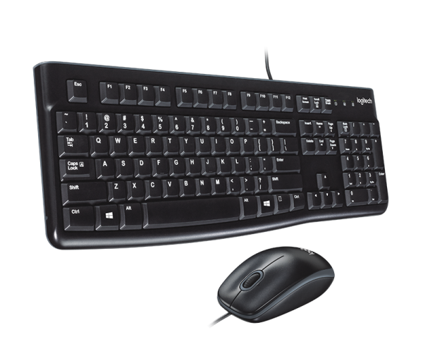 COMBO - LOGITECH Wired Keyboard & Mouse Combo MK120, INTL