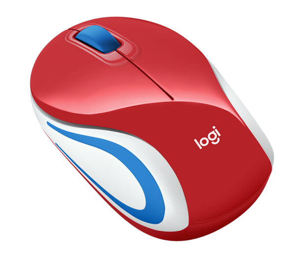 Mouse - LOGITECH Wireless Mini Mouse M187 - Red